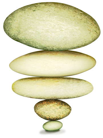 image of reversed stack stones